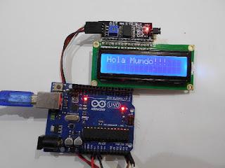 """Arduino LCD i2C """"Hola Mundo"""""""