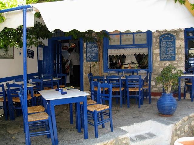 Restaurant in Hydra, Greece