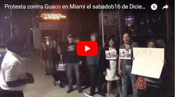 GUACO repudiado en Miami por haber cantado durante protestas en Venezuela