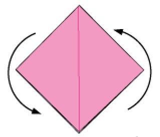 Bước 7: Xoay tờ giấy lên phía trên