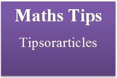 maths tips
