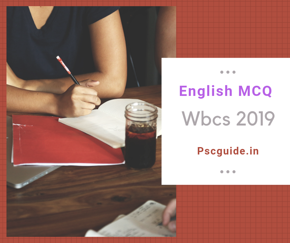 English MCQ For WBCS 2019 - PSC Guide