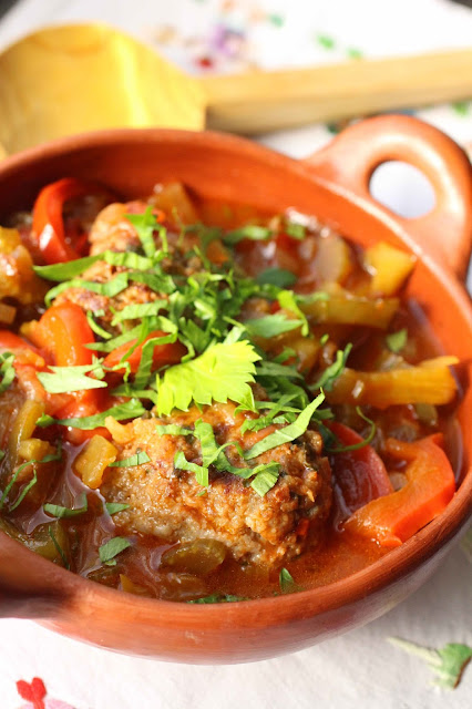 boulette de viande et légumes