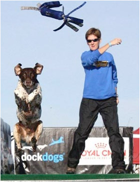 Susan Barnes Dock Dogs Champion