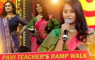 Pavi teacher fame Brigida Saga Rise to Fame| Award Winning Speech | Aval Vikatan Awards