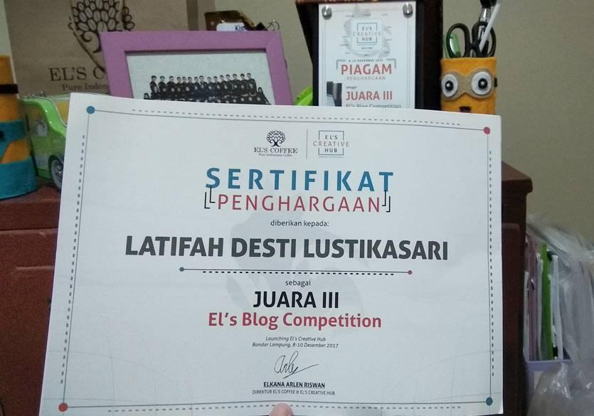 juara el's blog competition