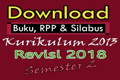 Download Buku, RPP dan Silabus Kelas 3 Semester 2 K13 Edisi Revisi 2018 Terbaru