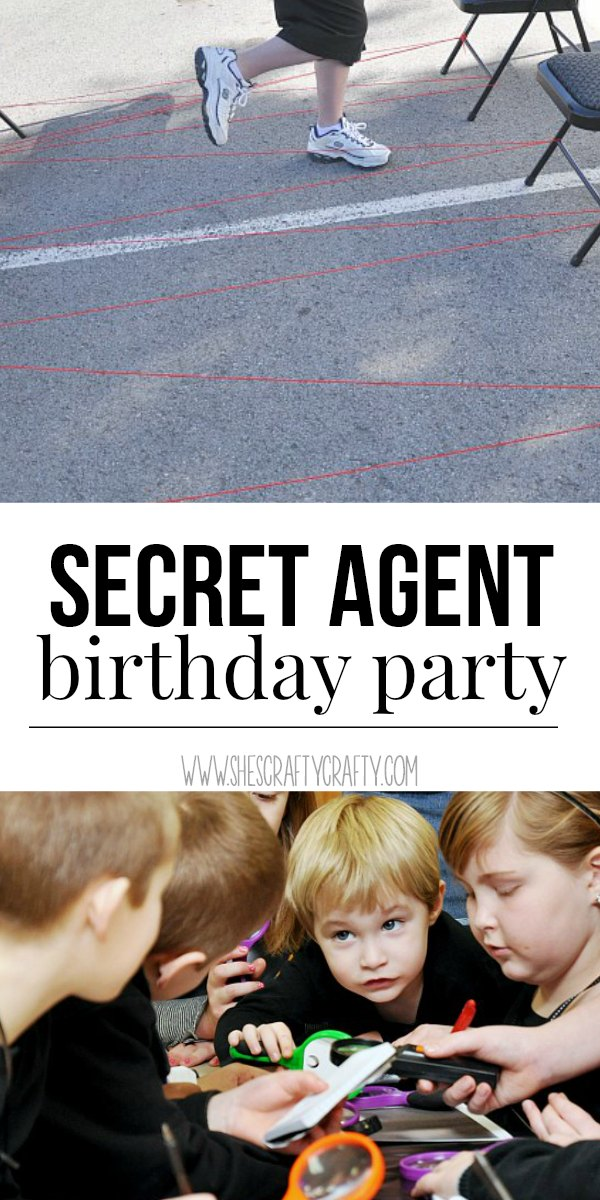 boy birthday party, spy birthday party