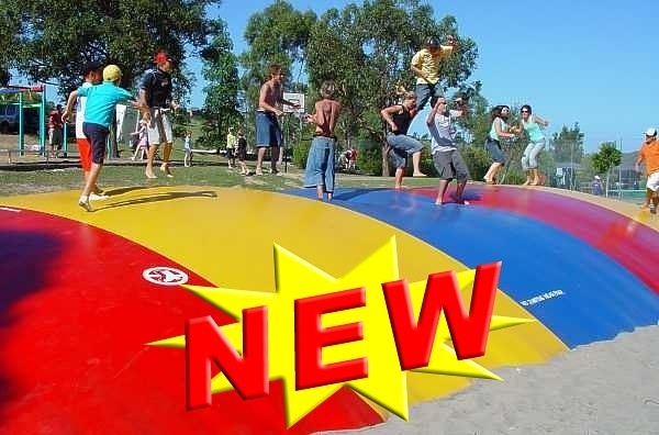 Check out the new jumping pillow at Fiddle Dee Farms
