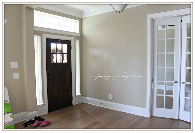 Farmhouse Foyer-New Build-Small Foyer-Craftsman-From My Front Porch To Yours