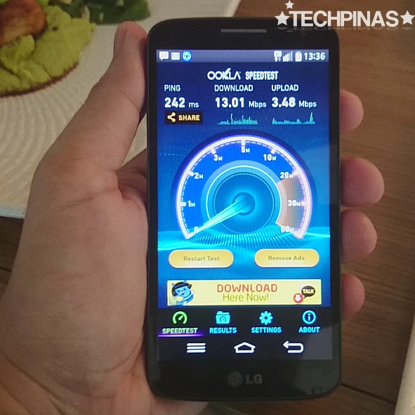 LG G2 Mini LTE, Smart LTE Speed Test Result, Smart LG G2 Mini LTE