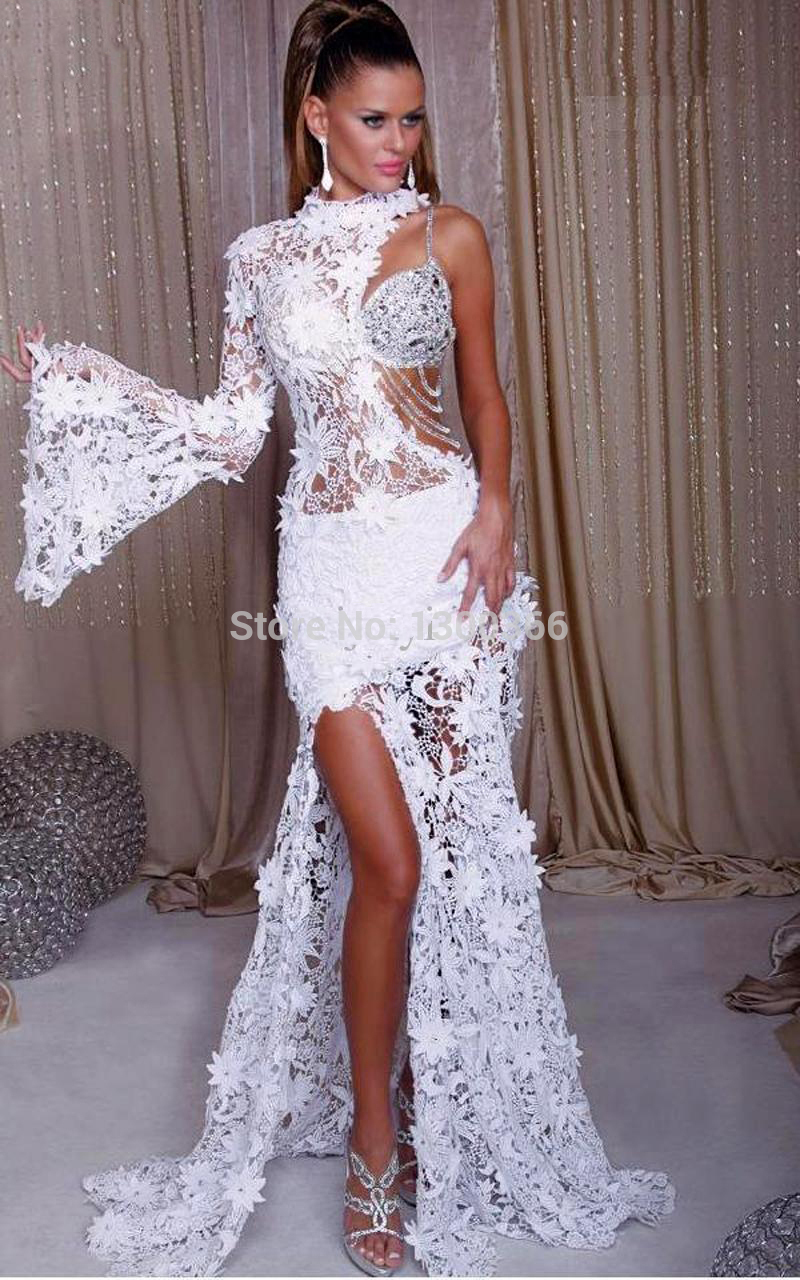 Ultimate Prom Dress White Lace | latest bridal ideas