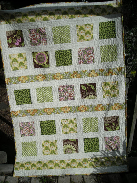 Lotus Garden Baby Quilt Free Pattern Designed by Jess Frost of The Elven Garden