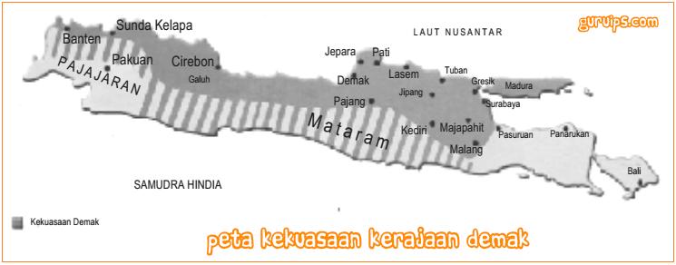 Peta Kekuasaan Kerajaan Demak