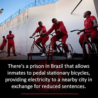 Brazilian prisoners get out early by pedaling exercise bikes to generate electricity