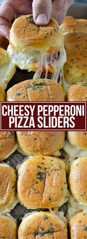 Cheesy Pepperoni Pizza Sliders