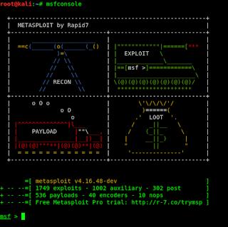 Metasploit -- The MSF | Kali Linux - Kali Linux Tutorials