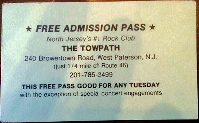 The Towpath Tuesday night free pass