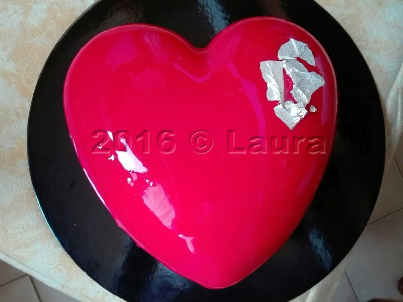 Laura in cucina cuore di cioccolato e lampone con glassa a specchio - Specchio a cuore ...