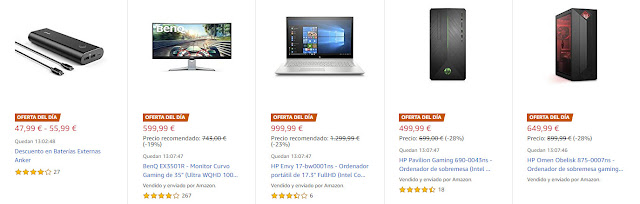 Ofertas 24-07 Amazon Top 10 Ofertas Destacadas, del Día y Flash