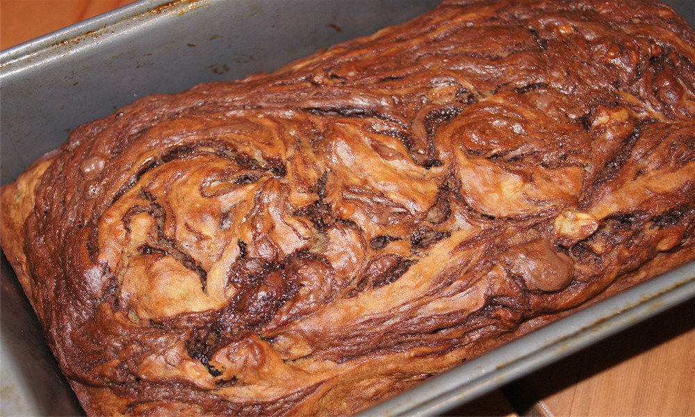 Nutella Banana Bread border=