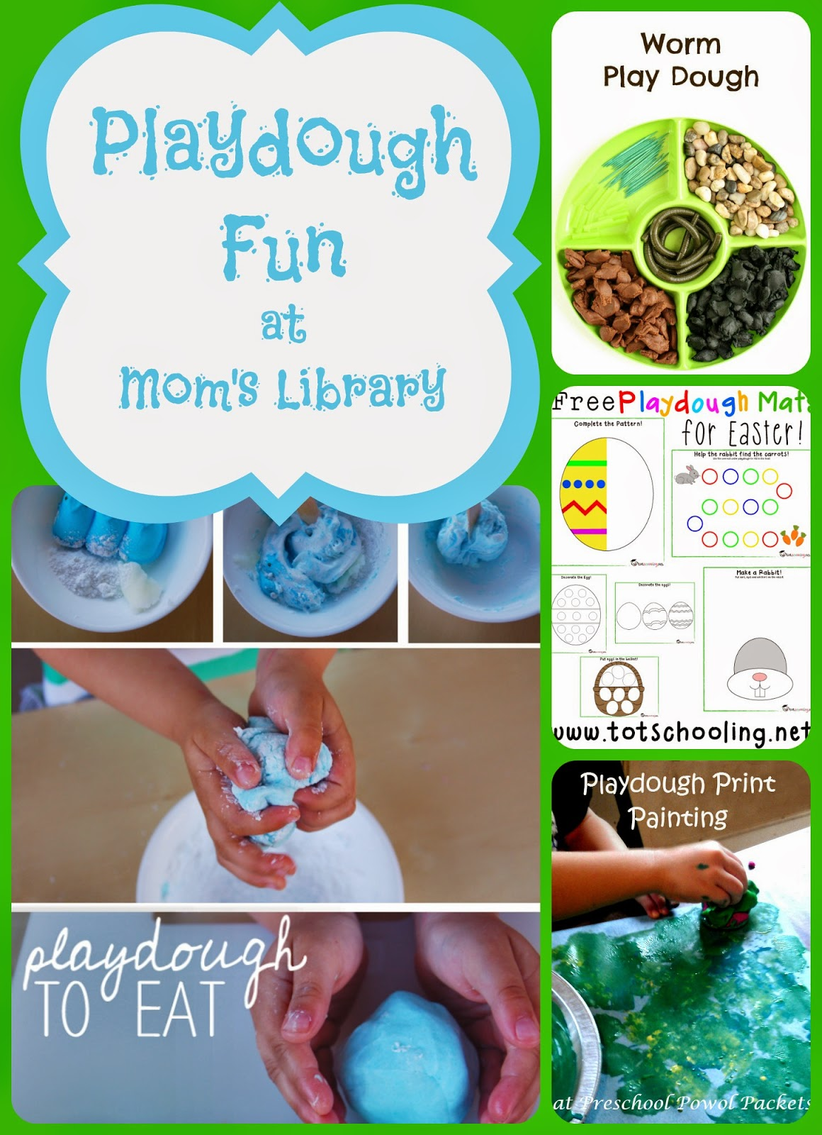 Playdough Fun on Mom's Library