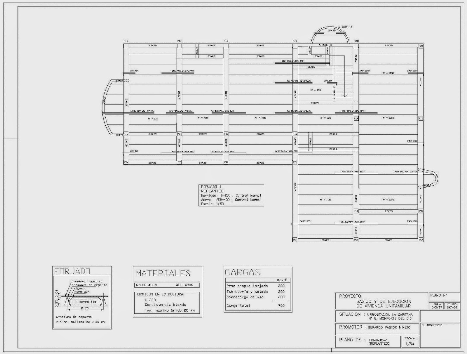 Rc i e s gran v a alicante pr ctica 10 15 16 17 planos for Planos de estructuras