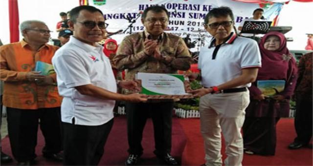 """Hendra Iwan Rahim Kerua DEKOPIN  Provinsi Sumbar """"Penguatan Koperasi Mendorong Pertumbuhan Ekonomi Nasional."""