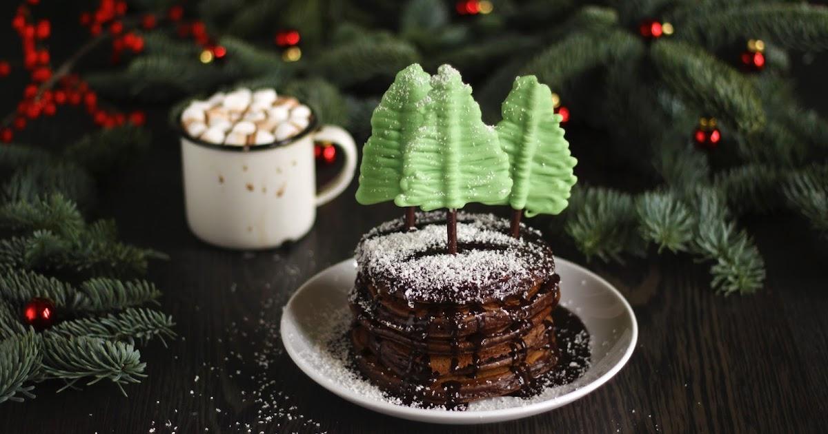 Pancake Stories Spicy Hot Chocolate Xmas Tree Pancakes