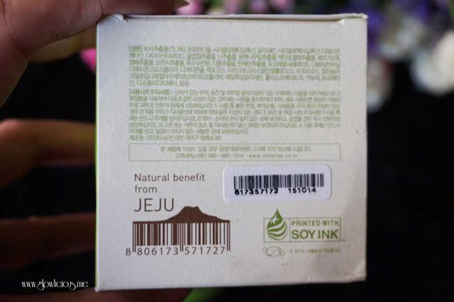 Packaging Innisfree Green Tea Sleeping Pack