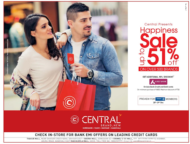 Mumbai Central - Up to 51% discount offer | December 2016 year end sale | Christmas festival discount offers