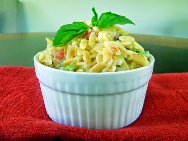 Garlic and Parmesan Orzo with Fresh Veggies | by Life Tastes Good