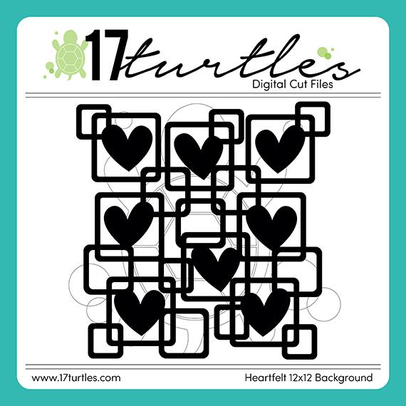 17turtles Digital Cut File Heartfelt Background