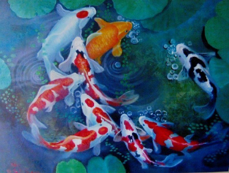 lukisan ikan koi terindah