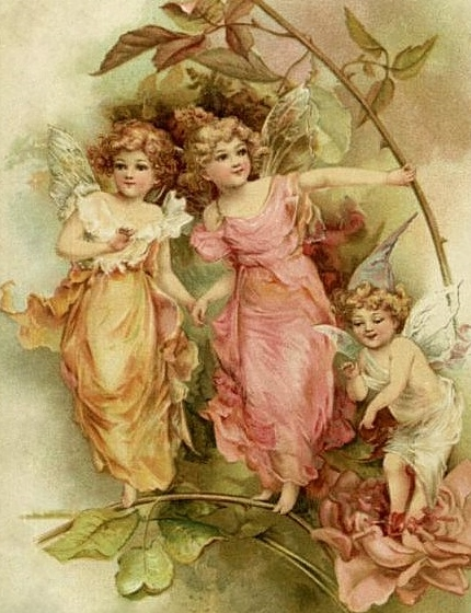 bumble button: Antique Victorian Fairy Postcards - Free ...