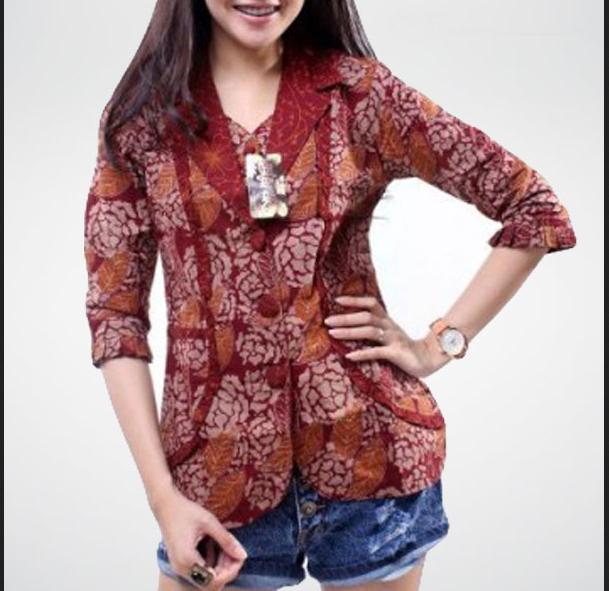 Contoh Gambar Baju Batik Modern: Model Baju Batik Wanita Modern Yang Keren