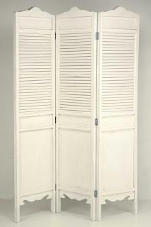 biombo separador blanco, biombo decorativo blanco, paraban blanco