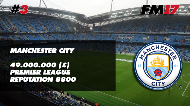 Football Manager 2017 Manchester City Transfer Budget
