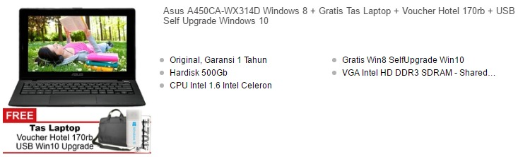Harga Laptop Asus 14 Inch Murah Terbaru 2017