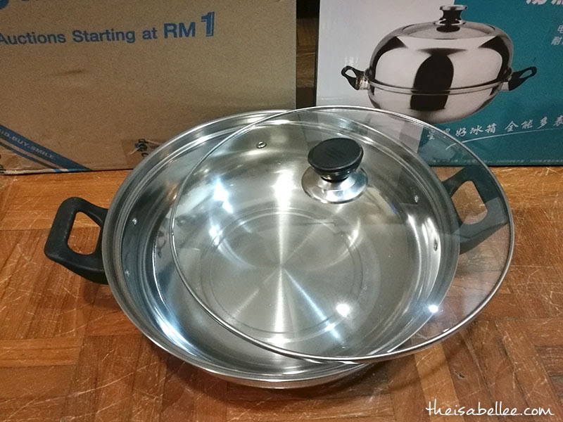 Stainless steel stockpot from Chilindo Malaysia