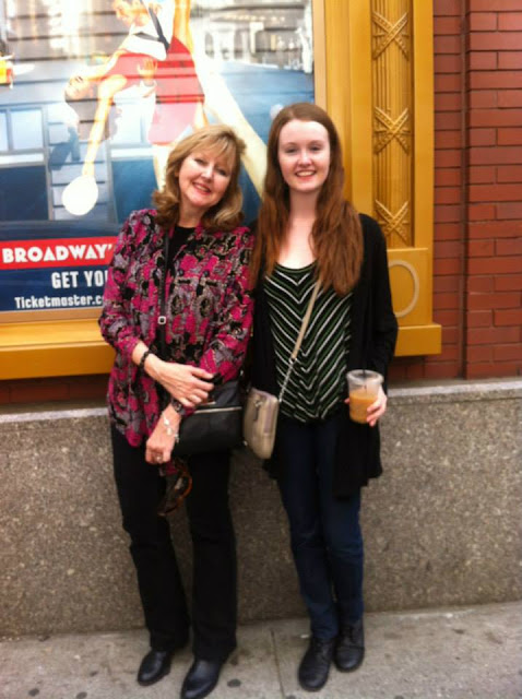 Trinity student Brenna Hill with her mom in New York