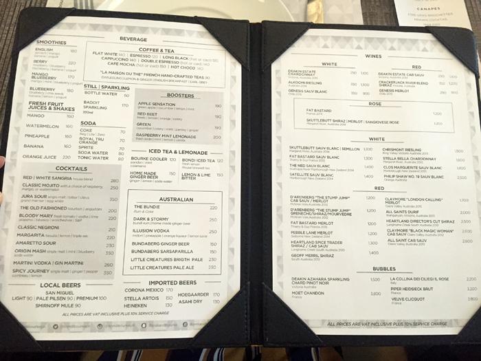 Australian restaurant bondi bourke opens in bgc for Australian cuisine menu