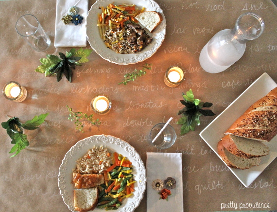 Healthy meal at home anniversary style pretty providence for Romantic meal ideas at home