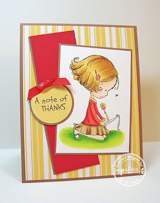 A Note of Thanks card-designed by Lori Tecler/Inking Aloud-stamps from SugarPea Designs
