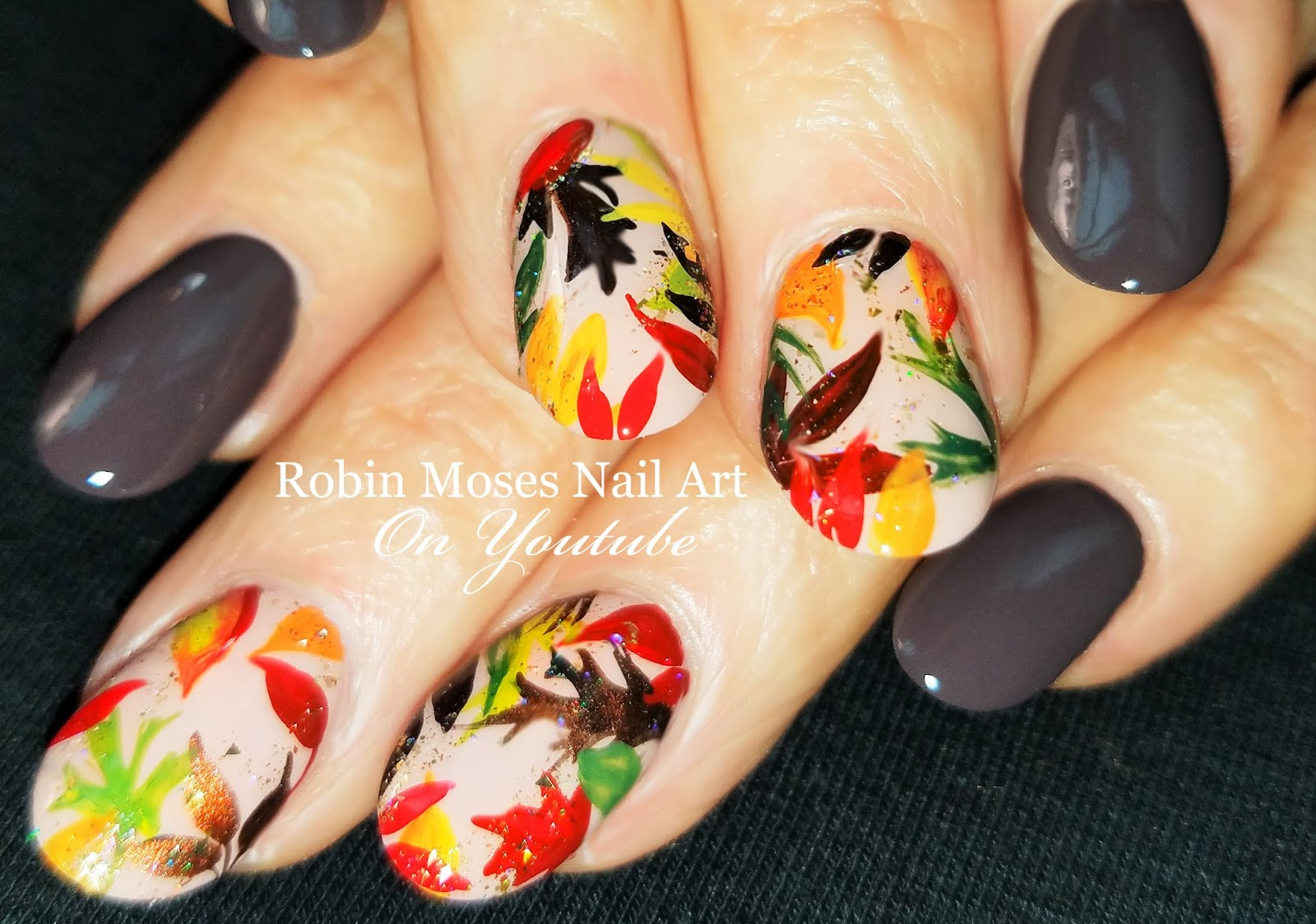 Nail Art By Robin Moses Fall Nail Art 2018 Playlist Easy Autumn