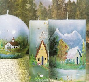 Como hacer velas decoradas con paisajes  Mimundomanual