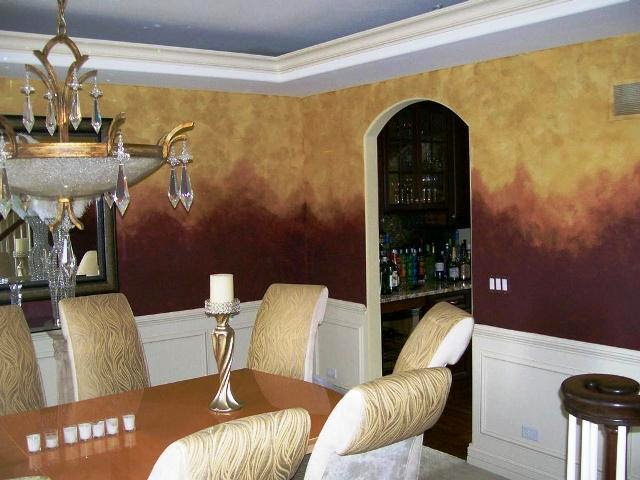 faux painting ideas dining room