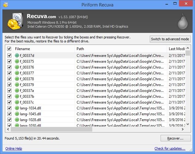 Update Recuva Professional 1.52.1086 Full Version + Crack ...