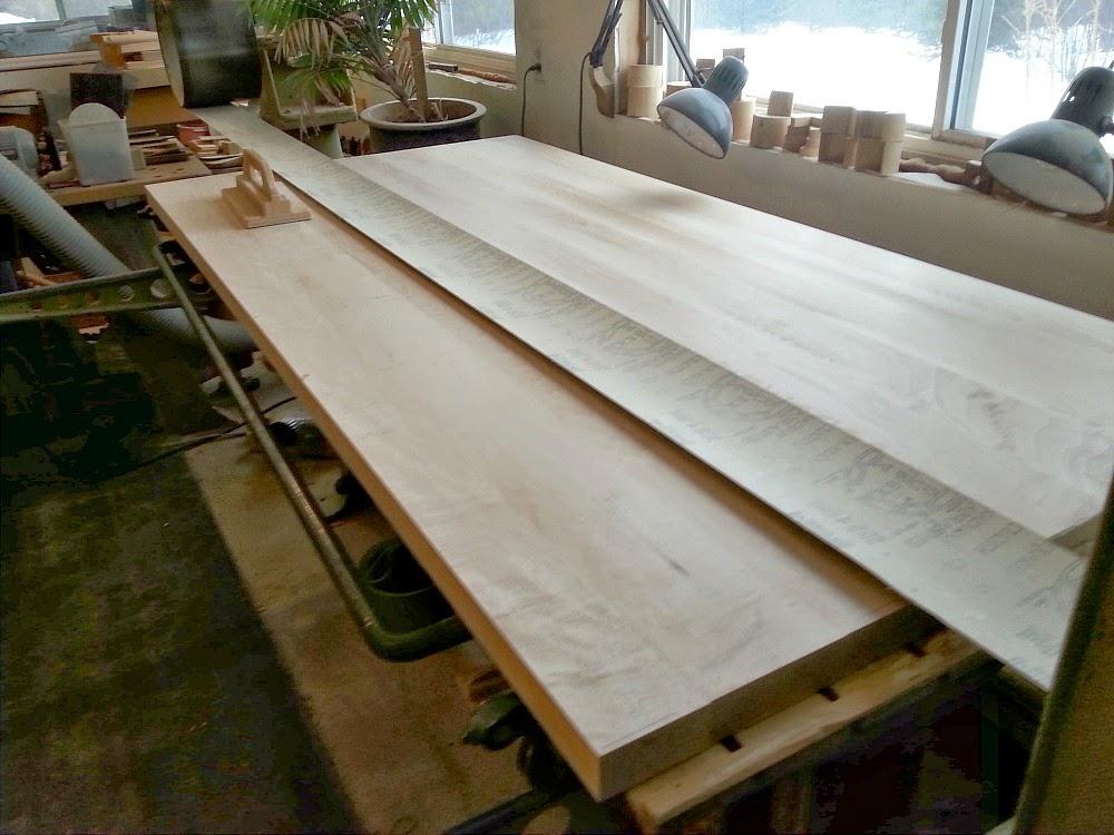 Sanding DIY Solid Wood Counters