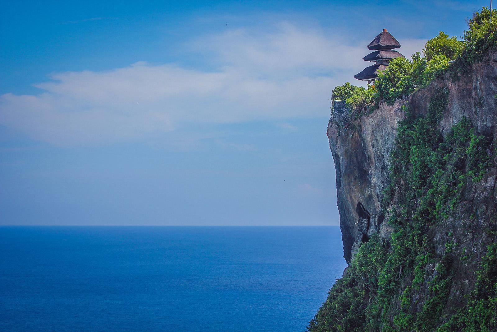 Uluwatu cliff temple bali indonesia